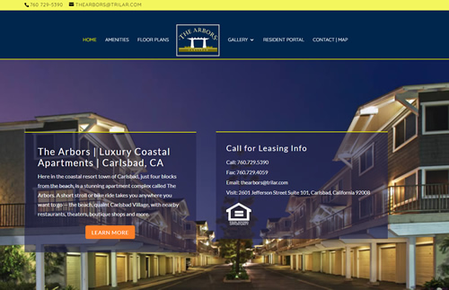 The Arbors Carlsbad Website Snippet
