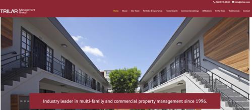 Trilar Management Group Website Snippet